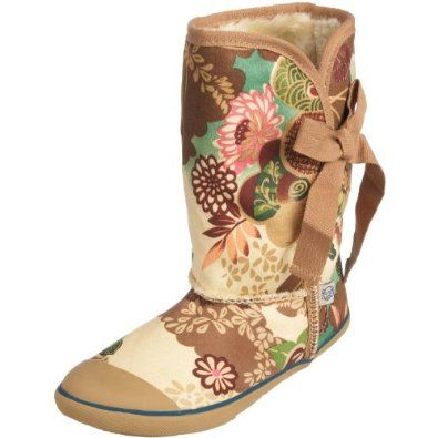 Sugar Morigami Asian Floral Tan - Sugar Shoes