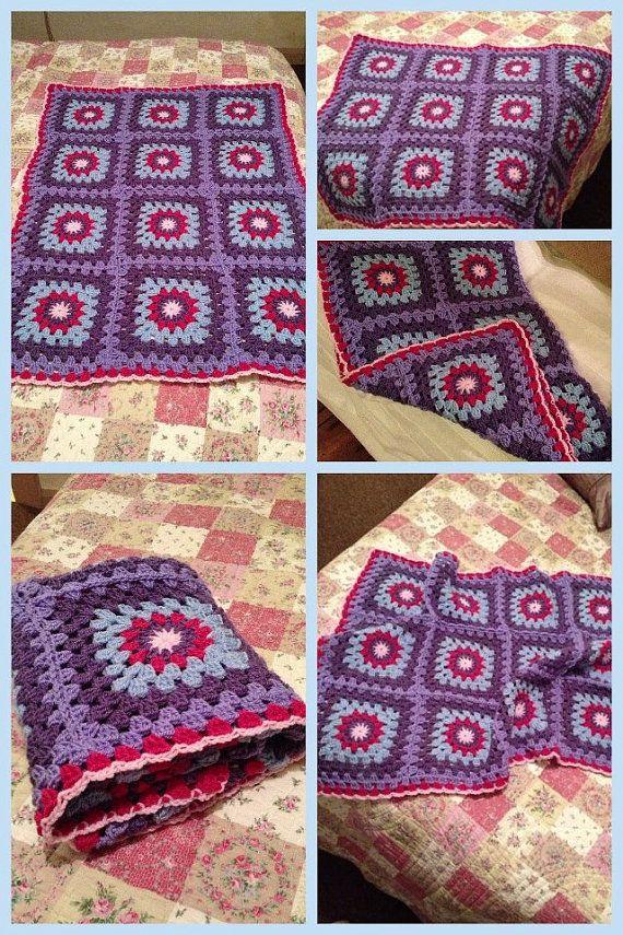 Knitting Granny Square Blanket : Best crochet starburst sunburst images on pinterest