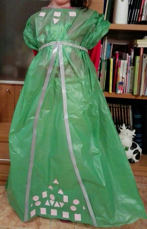 Disfraz dama medieval bolsa basura
