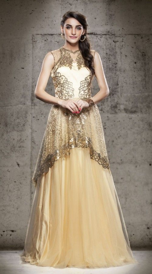 122 best images about indowestern gowns on pinterest 34 for Floor touch gown