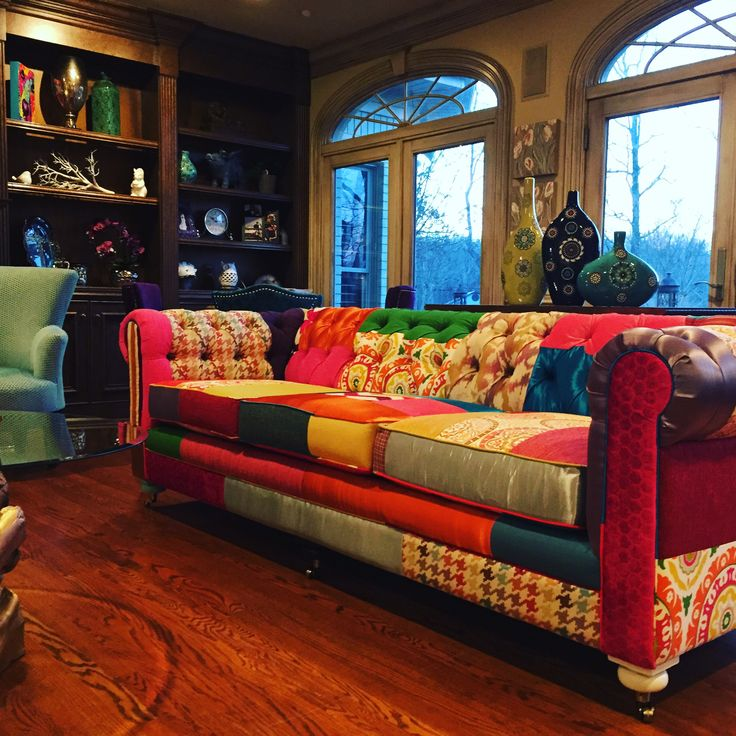 Joybird Liam Patchwork Sofa from Stacy P.