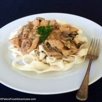 Stroganoff (бефстроганов) is the ultimate Russian comfort food for me, usually made with strips of beef, served with a starch. There is no direct translation for Chicken Stroganoff in Russian. It literally translates to Beef Stroganoff from Chicken in Russian. Traditionally in Russia, it was served with thin fried potato straws, almost like a shoestring …