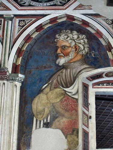 Marcus Curius Dentatus, fresco in the Giants Room, Trinci Palace, Foligno, Italy  #TuscanyAgriturismoGiratola