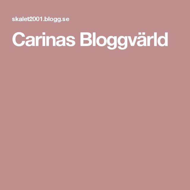 Carinas Bloggvärld