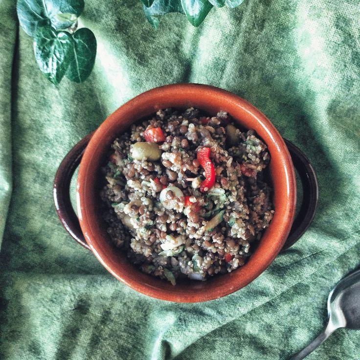 #Recipe | Insalata di lenticchie e Quinoa // Lentils and Quinoa salad | F4OD #vegan