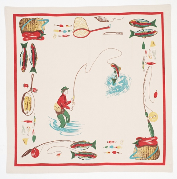 Bait & Tackle TableclothCamps Ideas, Vintage Trailers, Fishermans Tablecloth, Little House, Fun Camps, Tackle Tablecloth, Vintage Tablecloth, Cabin Fever, Tackle Vintage