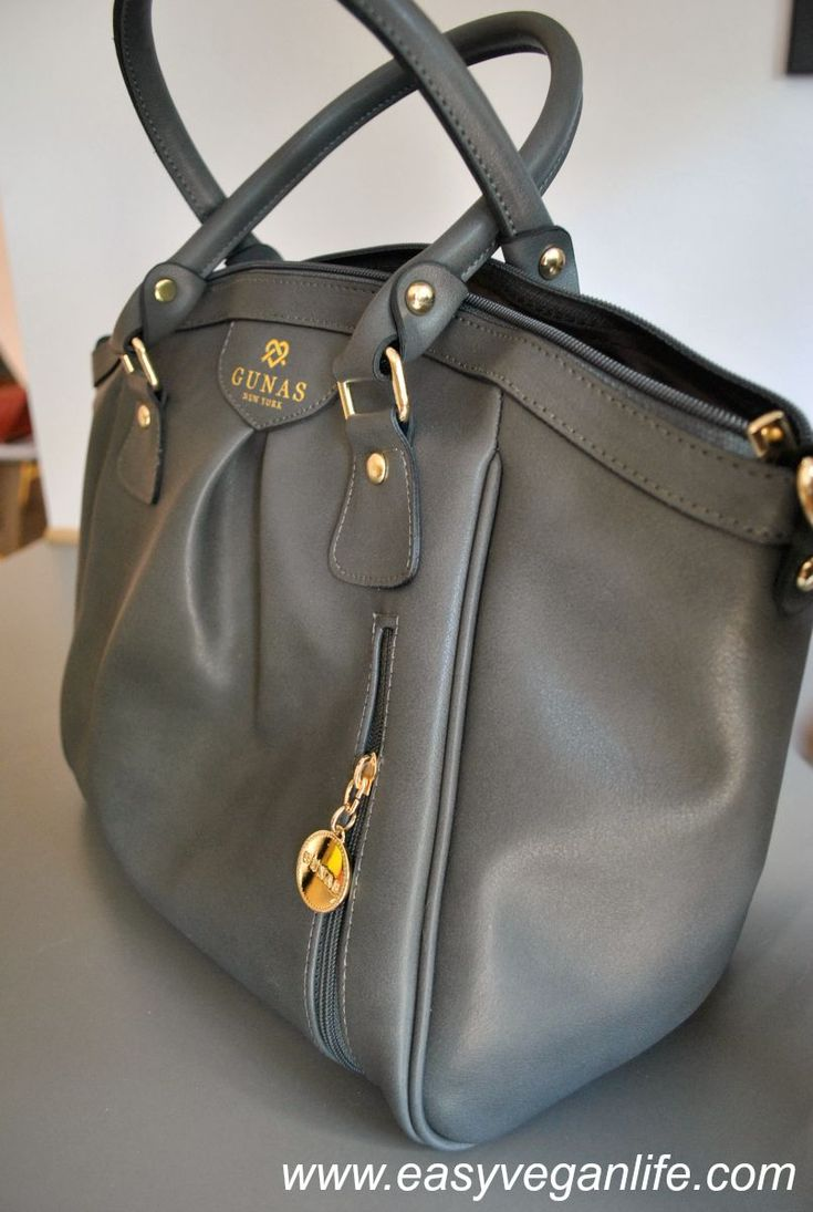 High-end vegan handbags: Gunas Madison Bag in Grey