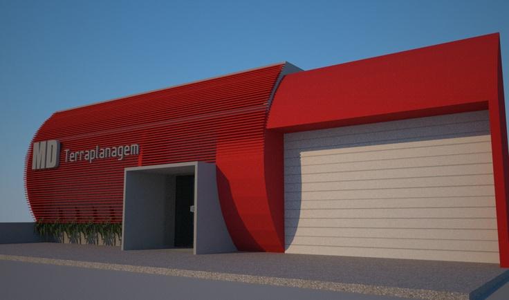 Projeto para sede da MD terraplanagem - Cascavel Parana  www.isabelladalfovo.com