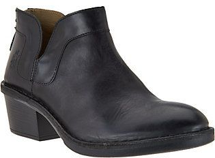 Fly London As Is Leather Ankle Boots - Dias