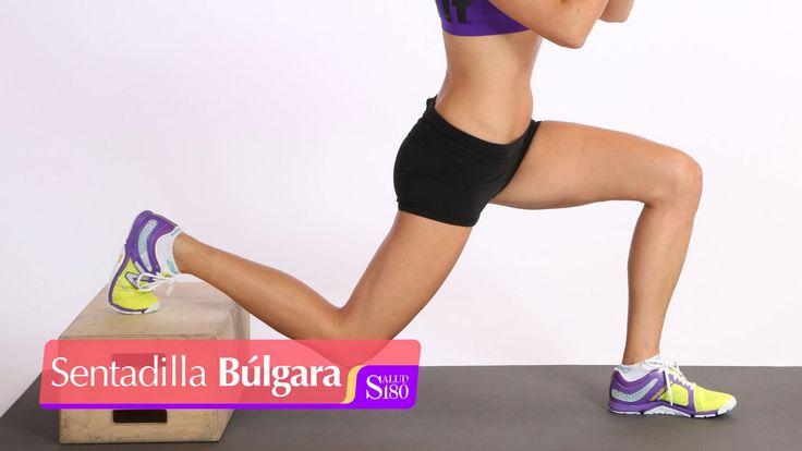 Sentadilla búlgara para piernas y glúteos | Muévete | Salud 180