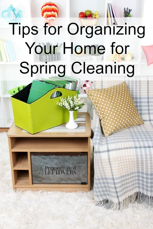 Tips for Organizing Your Home for Spring Cleaning - Here is a helpful checklist for organizing your home to get ready for Spring cleaning.