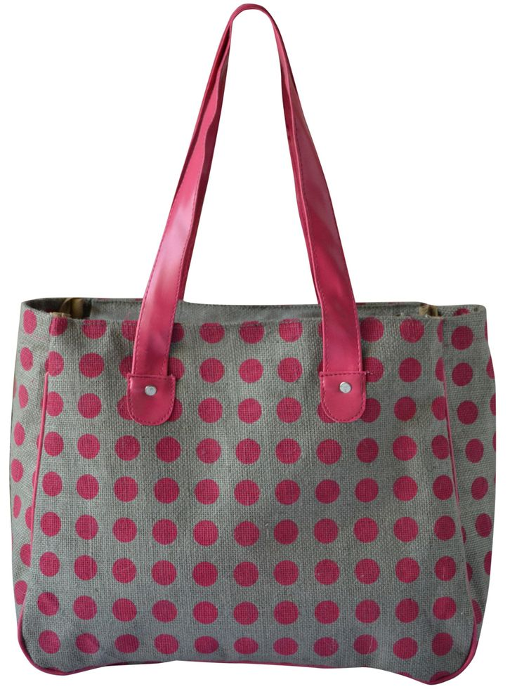 #polkadots will never be out of fashion #jutehandbag Get it @ www.earthenme.com