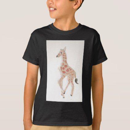 #giraffe drawing eliana T-Shirt - #cool #kids #shirts #child #children #toddler #toddlers #kidsfashion