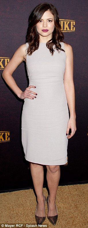 """Klondike on Discovery Star Conor Leslie """"Dressed to Thrill"""" in MAX GENGOS via Daily Mail   http://www.dailymail.co.uk/tvshowbiz/article-2541049/Besties-selfies-Abbie-Cornish-Jamie-Chung-giggle-grab-snaps-premiere-Discoverys-Klondike.html"""
