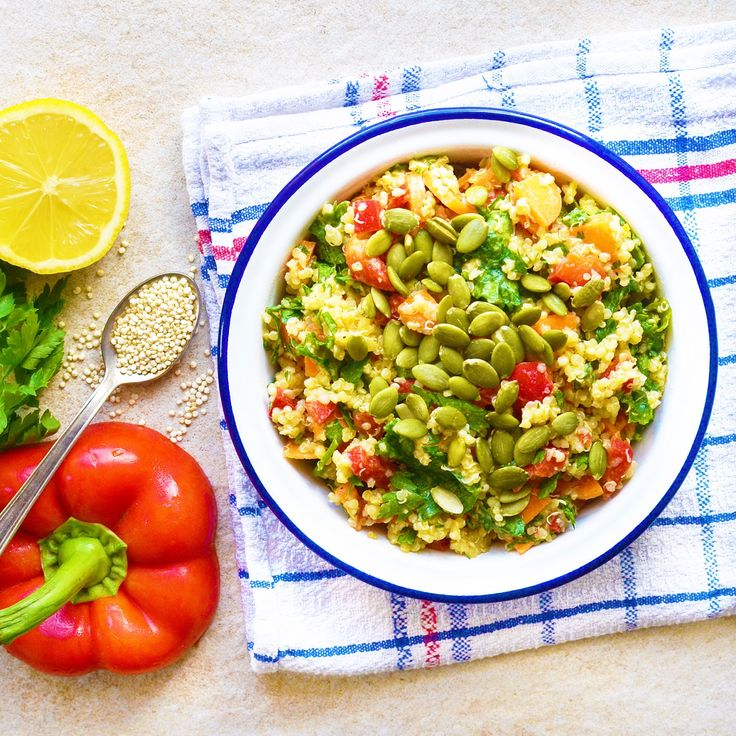 Krämig quinoasallad! Receptet finns i meny 32. 😊