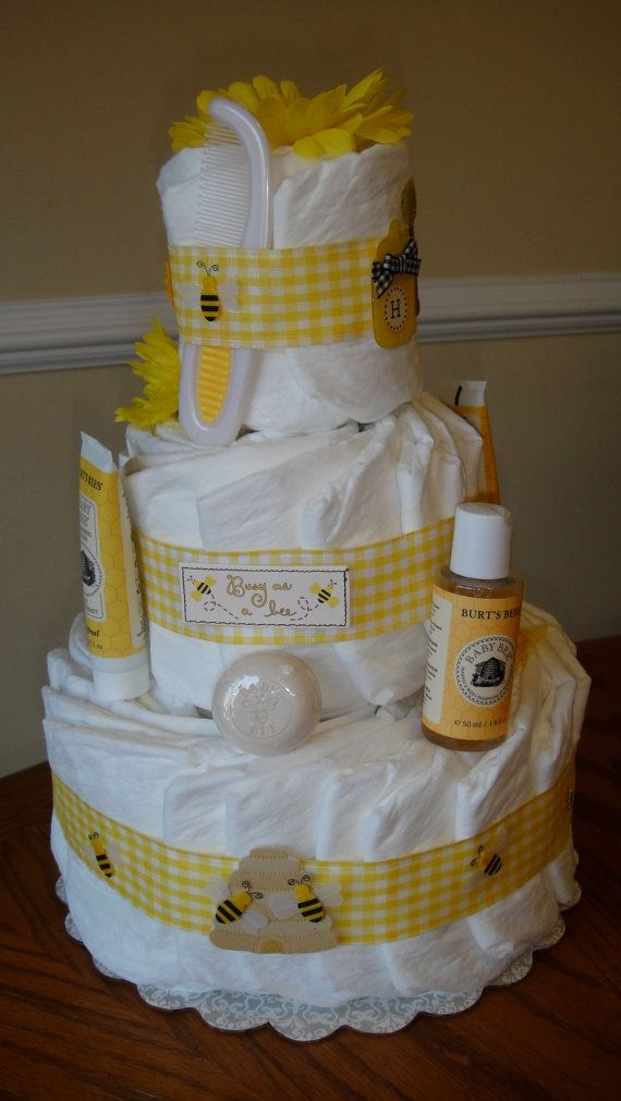 Busy Bee Diaper Cake By Supercreativemom On Etsy 6000