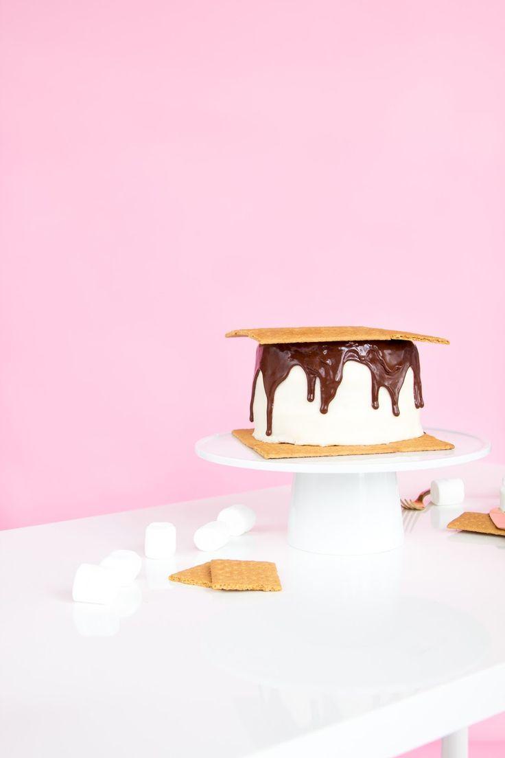 Giant S'mores Cake Recipe