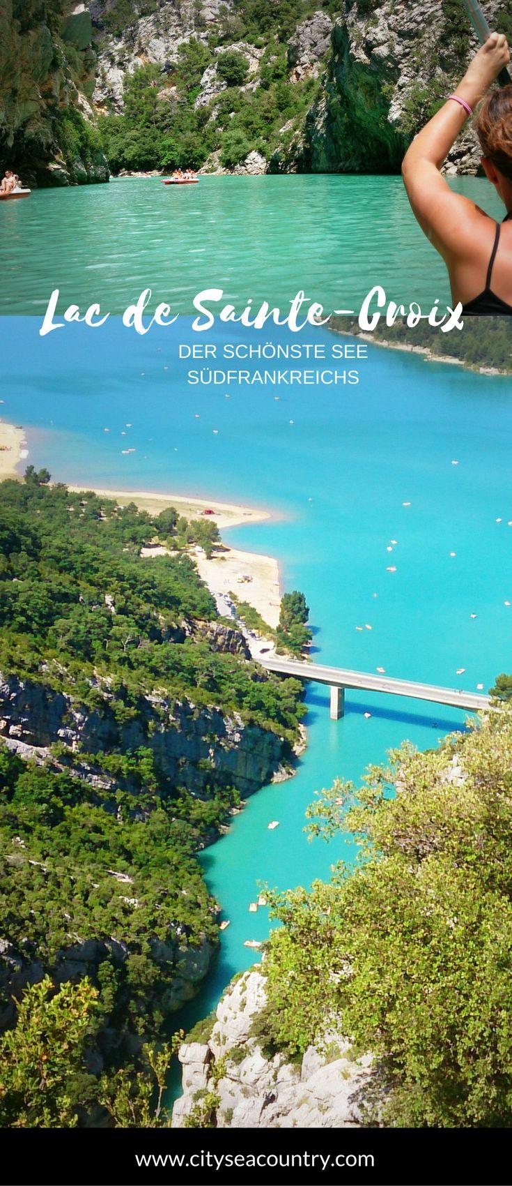 Hier erfährst du, warum der Lac de Sainte-Croix der schönste See in Südfrankreich ist; Stichwort: am Eingang einer der größten Schluchten Europas  + Lavendelfelder – Mel Bee-Kay