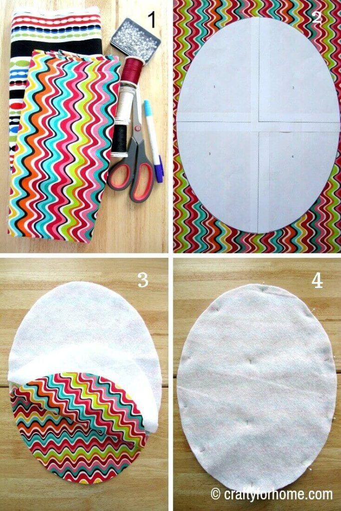 Oval Shaped Placemat Tutorial Diy Placemats Fabric Placemats