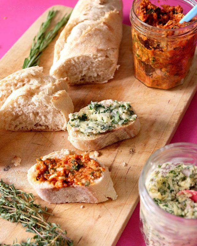 Zweierlei Kräuterbutter   Tomate-Knoblauch-Basilikum-Limette & Fünf-Kräuter-und-Knoblauch   Kochzauber   was eigenes Blog