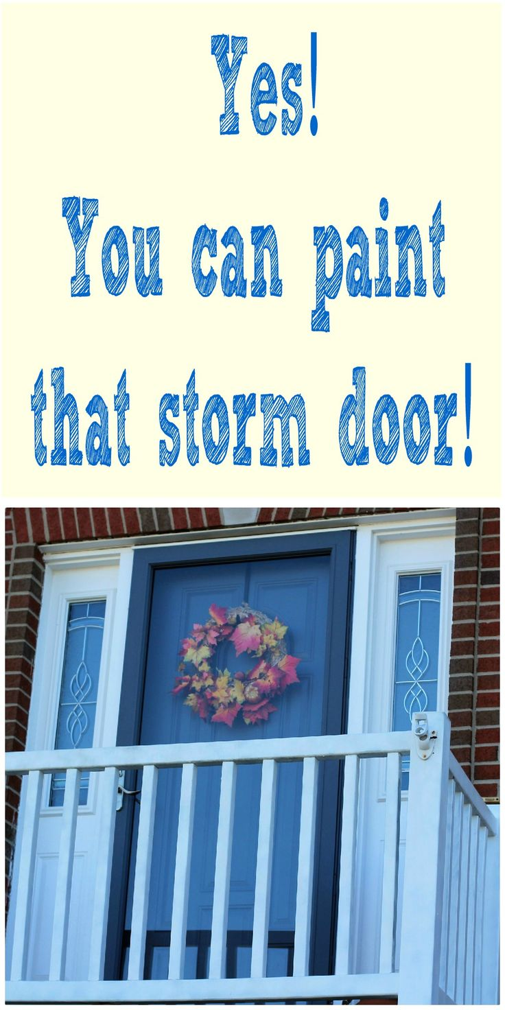Really pleased with the way the painted doors look it was quick - Paint Your Storm Door