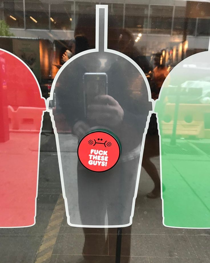 TBH they're ok for a ginormous corporation however they left a blank 3 inch circle open on their adspace. #sorrydudes #fucktheseguys #starbucks #fuckingfrappes #sticker #stickers #stickersnotslaps #stickerporn #adbusting #poorsport