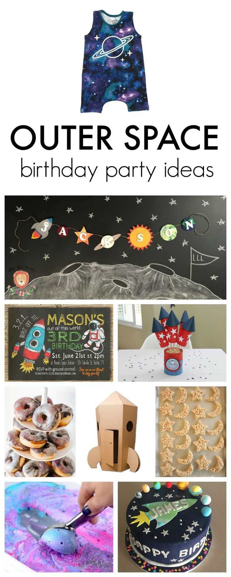 The cutest ideas for an outer space themed birthday party!!