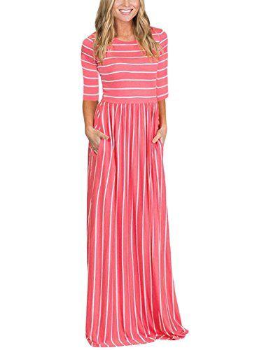 ec2771e2333 HOTAPEI Women s Summer Casual Loose Long Tshirt Dress 3 4... https ...