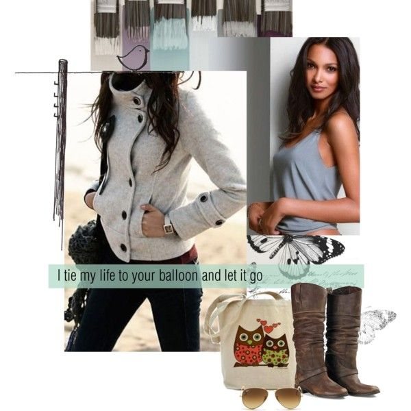 A fashion look from December 2014 featuring leather boots, ray ban aviator e victoria secret lingerie. Browse and shop related looks.
