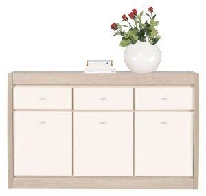 AX5 AXEL BOGFRAN dresser. Spacious 3-door dresser with three drawers. Original combination of colorus. Polish Bogfran Modern Furniture Store in London, United Kingdom #furniture #polish #bogfran #dresser #cabinet