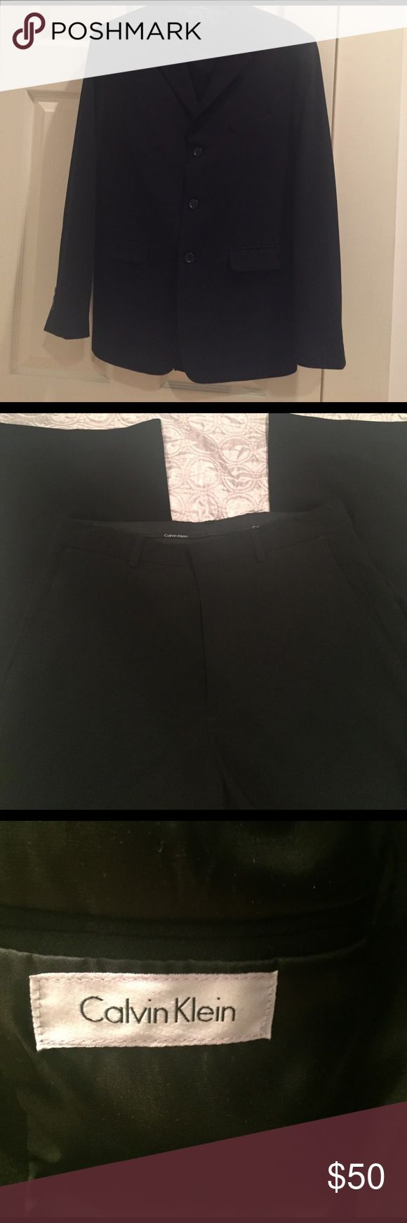 Calvin Klein boys black suit Calvin Klein black suit. Boys size 18 in excellent condition only worn once no stains. Calvin Klein Matching Sets