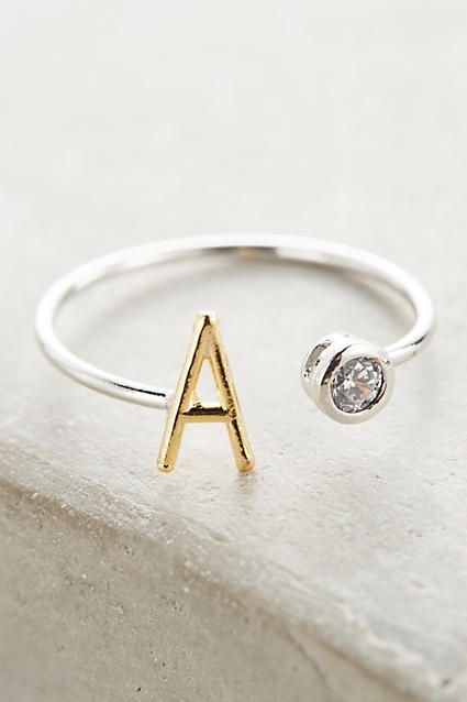 Monogram Orbit Ring - anthropologie.com