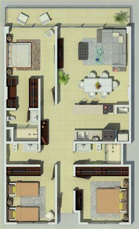 99 m2, 3 recamaras, 2 baños, cocina integral, balcón y 2 cajones de estacionamiento.