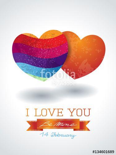 New! :) #valentine #heart #love #couple #vector #stockimage #background https://us.fotolia.com/id/134601689