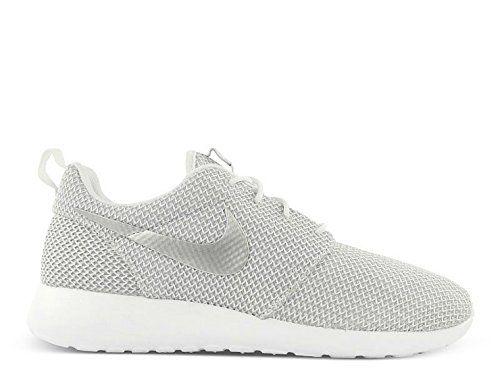 Nike Women's Roshe Run White/Metallic Platinum Sneaker 12 B - Medium Nike  http: