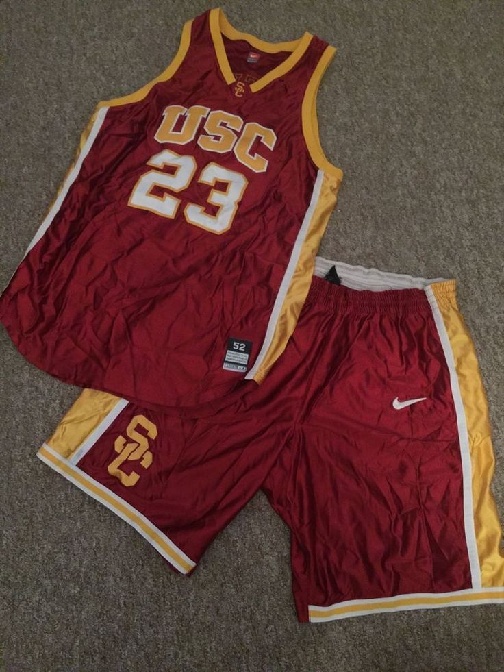 usc trojans game worn/used nike basketball uniform from $125.0
