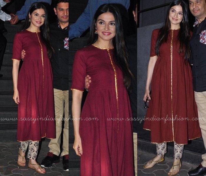 How To Style Plain Anarkali, Plain Anarkali Suits with Designer Pants, Plain Anarkali Kurtha and Printed Pants.