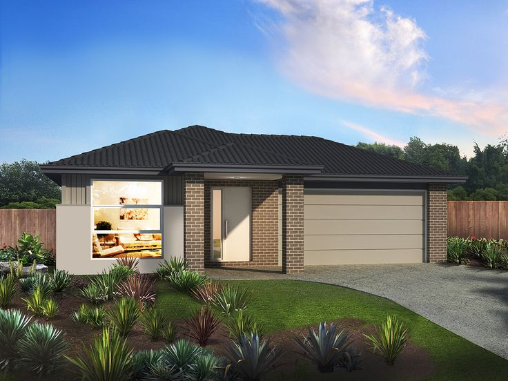 'Hawthorn 152' By Orbit Homes. Make the most of your home site with this neat, feature-packed layout. The Hawthorn 152 features plenty of space-saving ideas and a range of added luxuries, including a study nook and a walk-in robe as part of the master suite. #housedesigns #houseandland #newhomes #newbuild #perth #exterior #ideas #family