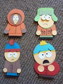 South Park  Stampin' Up! Punch Art