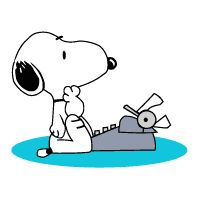 Writer's Block? just look at this cute picture of Snoopy, and you'll forget why you were blocked in the first place :)