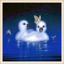 Diamond Embroidery Painting 5D Full Diamond Mosaic Cross Stitch Pasted Painting DIY Home Decora Little duck butterfly square(China (Mainland))