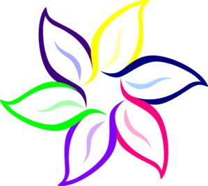 Flower Petal Clip Art   Multi-Color Flower clip art ...