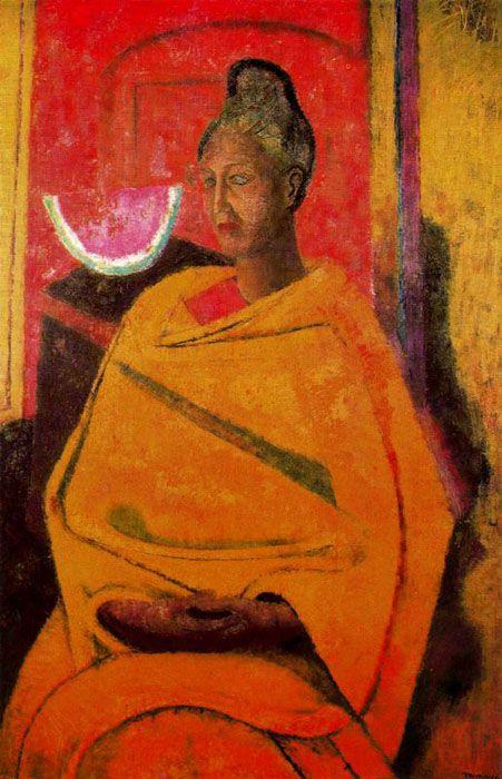 """Rufino Tamayo:  """"Retrato de Olga"""""""