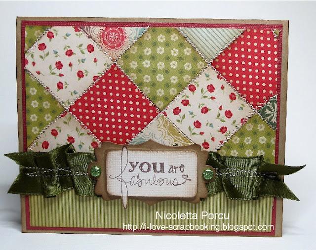 Super cute quilt card