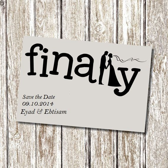 Save Date Cards Quirky