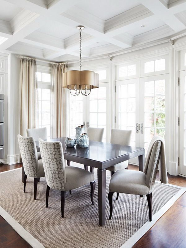 Casual Dining Room Rugs Decorating | Modern dining room ...