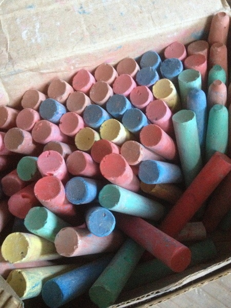 Wonderful Colored Chalk from the Brocante Society of FleaingFrance.