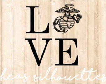 USMC Love Decal