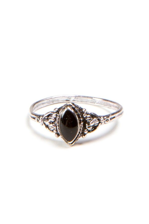 Brandy ♥ Melville | Victorian Style Black Ring - Accessories