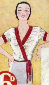 The Vintage Pattern Files: Free 1930's Crochet Pattern - Letitia Crochet Jumper